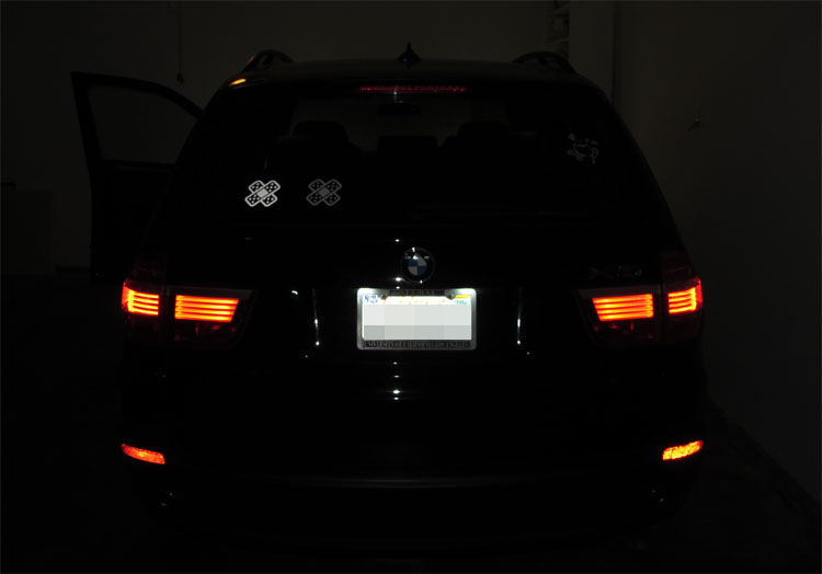 iJDMTOY Reflective Vinyl Decal vs Regular White Decal