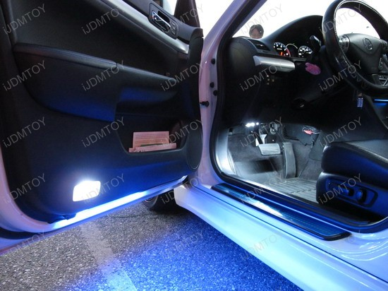 acura tsx with white interior led bulbs and blue under door lights ijdmtoy automotive lighting