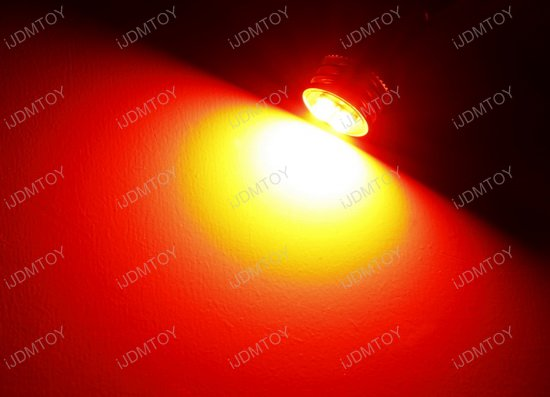 4-SMD T15 Red LED Bulbs