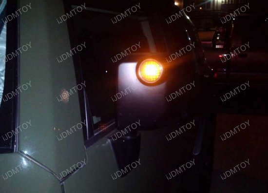 White Or Amber Led Side Mirror Light Bulbs For 07 14