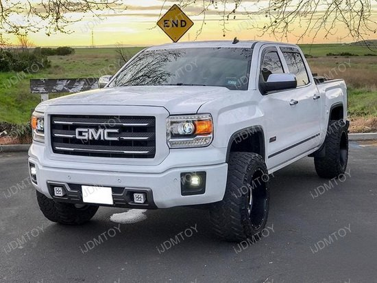 2014 2015 gmc sierra 1500 40w high power led fog light kit. Black Bedroom Furniture Sets. Home Design Ideas