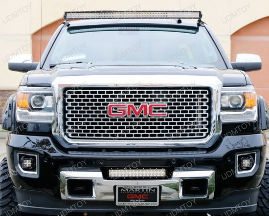 gmc sierra 2500hd 3500hd led pod lights with foglight