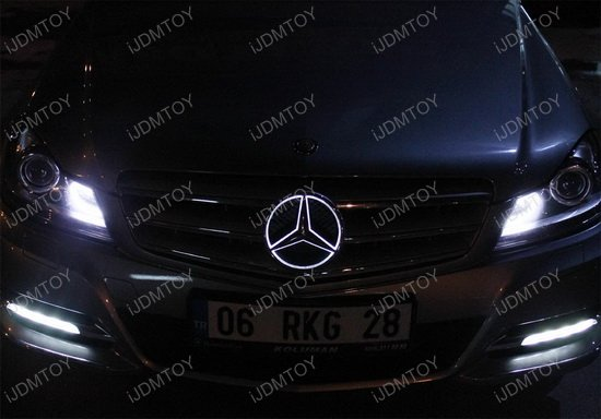 Mercedes benz led illuminated star kit for Illuminated star mercedes benz installation
