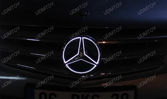 Led illuminated white star kit to light up mercedes c glk for Mercedes benz star logo
