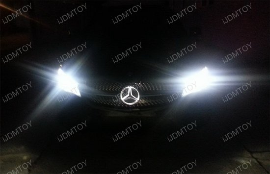 Led illuminated star for mercedes benz center grille for Mercedes benz light up emblem