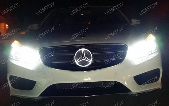 Led illuminated white star kit to light up mercedes c glk for Mercedes benz led star