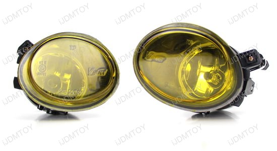 2001-2005 BMW E46 OEM Style Selective Yellow Lens Fog Lights Fog Lamps