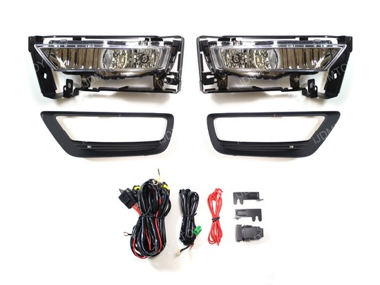 2013-2015 HONDA ACCORD SEDAN OEM Style Clear Lens Fog Lights Fog Lamps