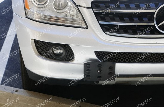 Mercedes Benz M-Class Tow Hole License Plate Relocator