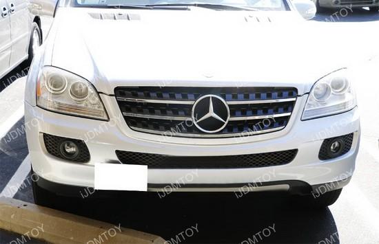 Mercedes w164 ml m class tow hook license plate bracket for Mercedes benz vanity license plates