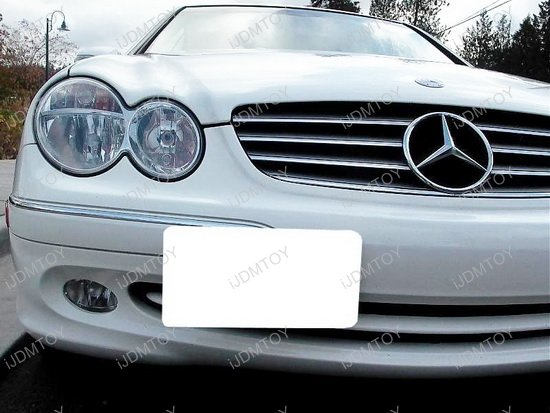 Mercedes Benz C E S CLS Class Tow Hole License Plate Relocator