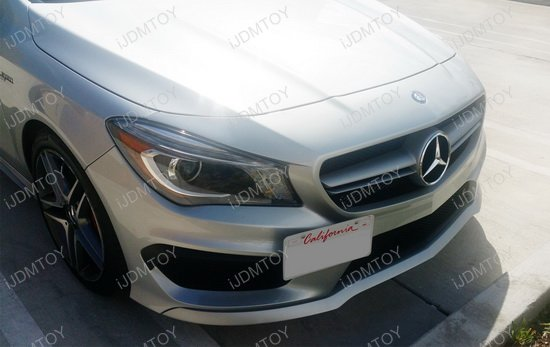 Mercedes Benz CLA GLA Class Tow Hole License Plate Relocator