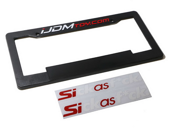 Cool Create Your Own Personalize JDM License Plate Frame