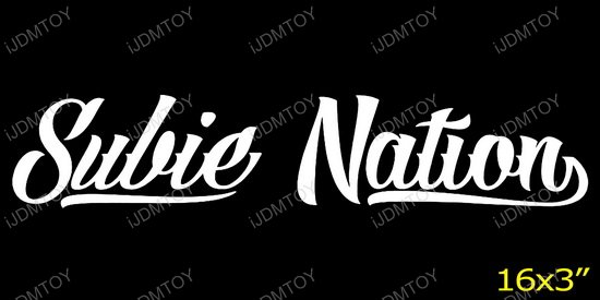 Subie Nation Decal