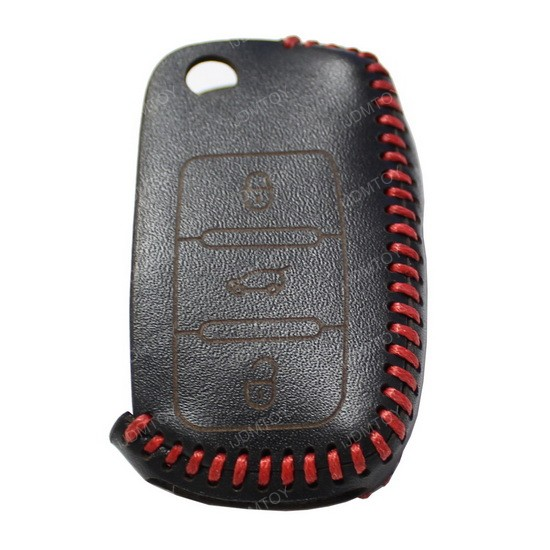3D Leather Key Holder For Volkswagen