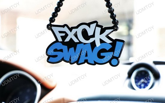 Cool JDM Car Rearview Mirror Hanging Charm