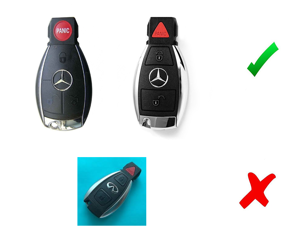 Mercedes c e s m class fob shell remote keyless smart key for Mercedes benz smart key