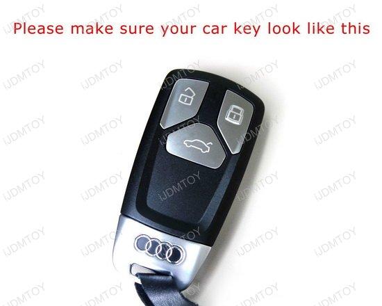 17-up Audi A4 A5, 16-up TT Fob Shell Remote Keyless Smart Key Holder