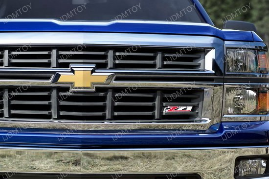 z71 chrome alloy metal front grille badge for chevrolet. Black Bedroom Furniture Sets. Home Design Ideas
