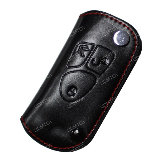 Mercedes benz black leather key holder key fob for c e s for Mercedes benz key holder
