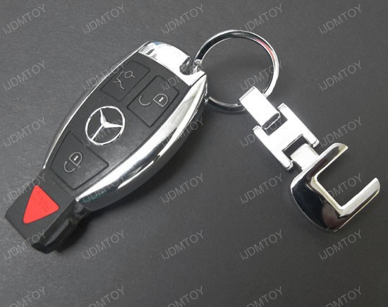 Mercedes key chain chrome key chain for mercedes c class for Mercedes benz key chain