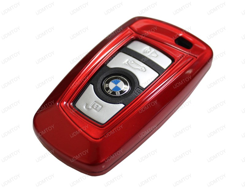 Exact Fit Glossy Red Smart Key Fob Shell For Bmw 1 3 4 5 6