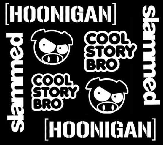 Hoonigan Urban Dictionary >> JDM HOONIGAN Ken Angry Rally Pig Cool Story Bro Slammed Combo Decals