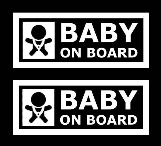 Cool JDM Style Cute Baby On Board Car Window Bumper Die-Cut Vinyl    Jdm Stickers Window