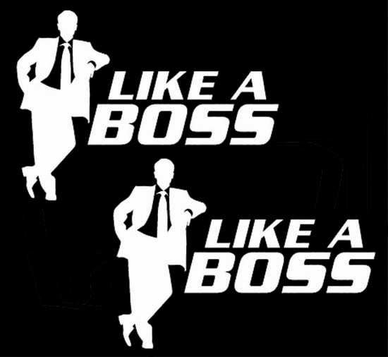 JDM Like A Boss Car Windows Bumper Vinyl Sticker Decal Graphics - Car sticker decals