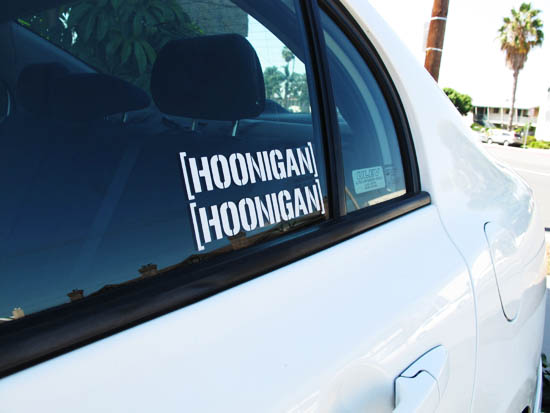 Cool JDM HOONIGAN Drifting Race Car Windows Bumper Decal Sticker - Cool decal stickers for cars