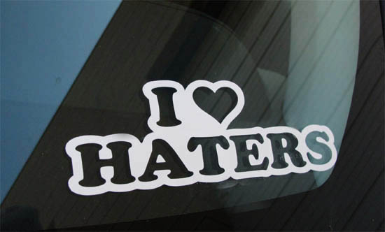 Cool JDM I Love Haters Drifting Race Car Windows Bumper Decal Sticker - Window stickers for cars