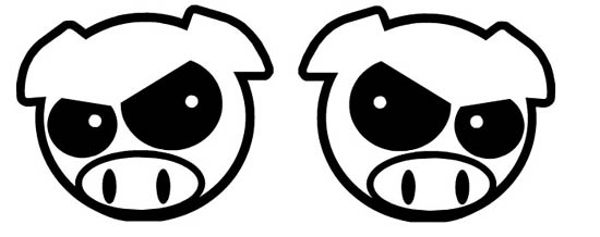 jdm angry pig head car windows bumper vinyl sticker decal
