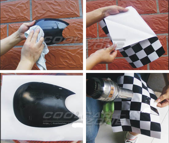 Checkered Pattern Vinyl Stickers For Mini Cooper Side Mirrors