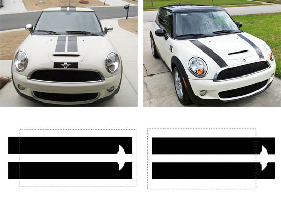 MINI Cooper Body Rally Racing Stripe