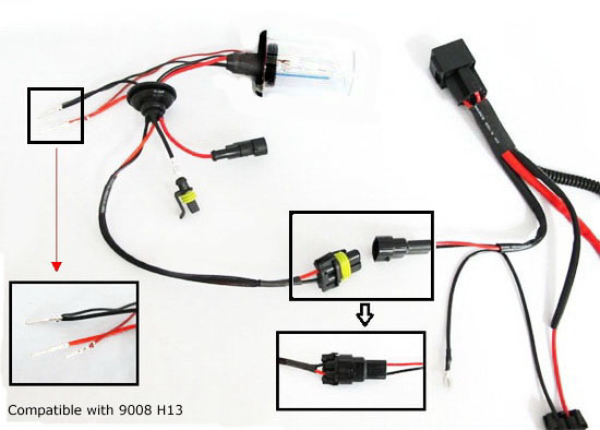 AA1004 Relay 6 hid conversion kit wire hid relay kit hid relay harness wiring h13 wiring harness diagram at bakdesigns.co