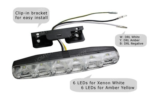 Universal Fit Switchback LED Daytime Running Lamps