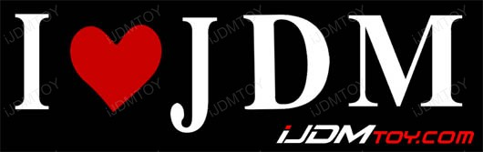 I Love JDM Reflective Vinyl Decal featured by iJDMTOY.com