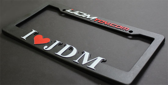 I Love JDM License Frame