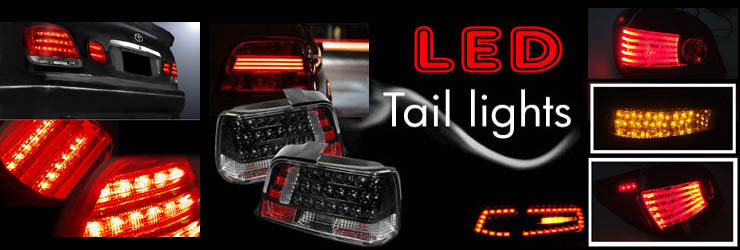 Custom Led Tail Lights Altezza Euro Clear Red Smoke Tail