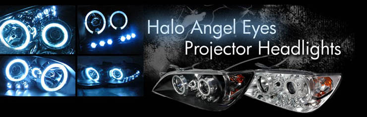 Halo Angel Eyes Projector Headlights 1