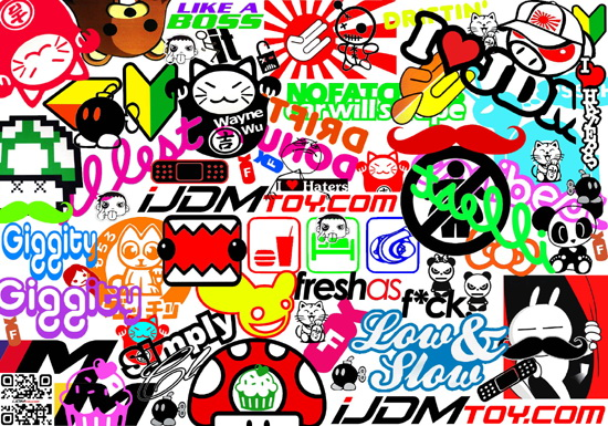 Cars stickers characters