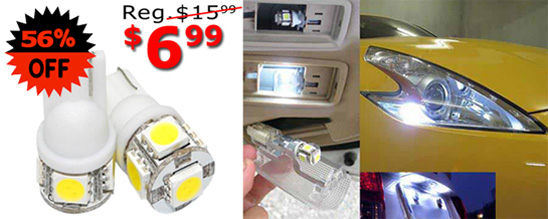 Most popular 5-SMD-T10 6.99 dollars now!