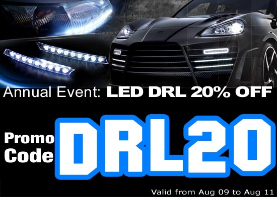 Annual Sale: LED DRL 20% OFF