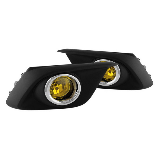 2014-up Mazda 3 Yellow Housing OEM Fog Lights