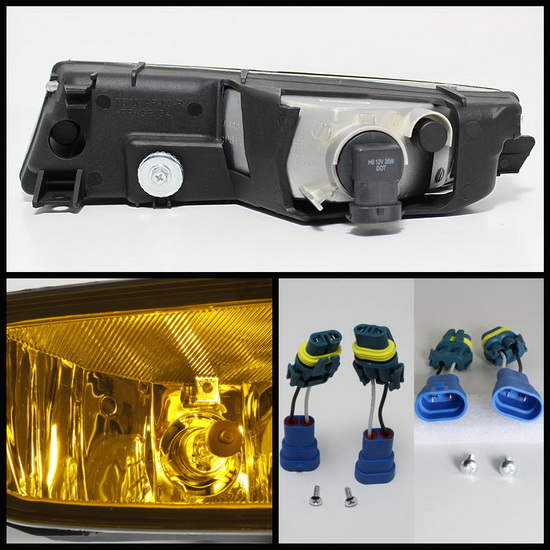 2002-2003 Acura TL Yellow Housing OEM Style Fog Lights