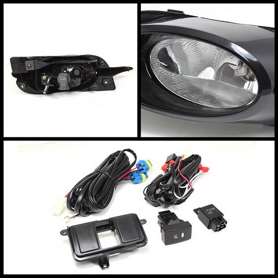 2009-2011 Honda Civic Coupe Clear Housing OEM Style Fog Lights