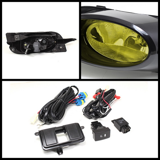 2009-2011 Honda Civic Coupe Yellow Housing OEM Style Fog Lights