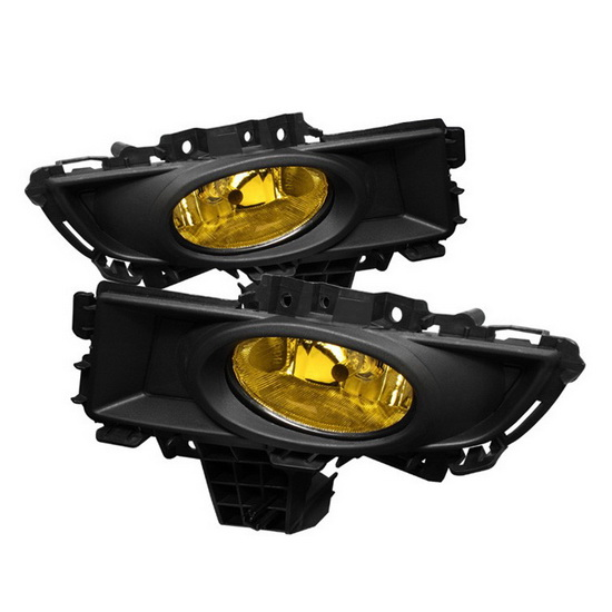 2007-2008 Mazda 3 Sedan Yellow Housing OEM Style Fog Lights