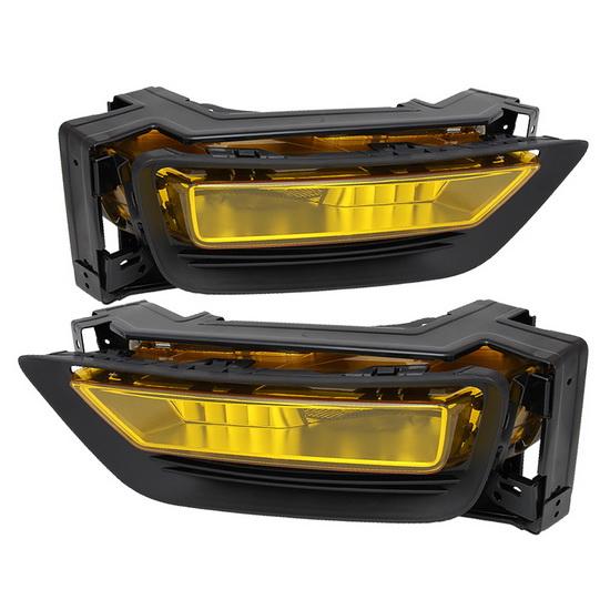 2013-up Honda Accord Sedan Yellow Housing OEM Style Fog Lights