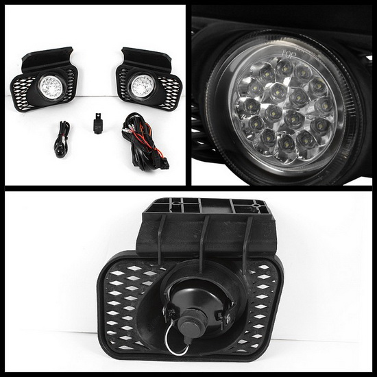 2003-2006 Chevrolet Silverado Chevrolet Avalanche Clear Housing LED Fog Lights